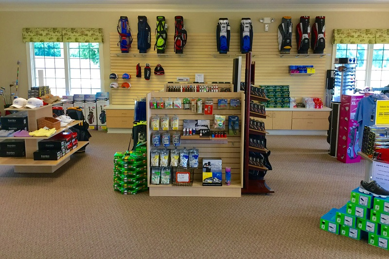 Interior shot of the pro shop at Country Oaks Golf Course