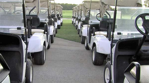 Hop into one of our golf carts
